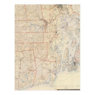 Composite Rhode Island Map Postcards