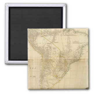 Composite South America 2 2 Inch Square Magnet