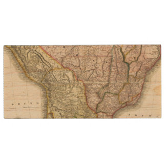 Composite South America, West Indies Wood USB 2.0 Flash Drive