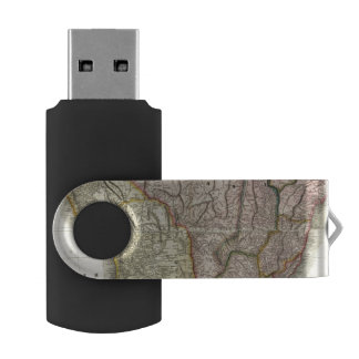 Composite South America, West Indies Swivel USB 2.0 Flash Drive