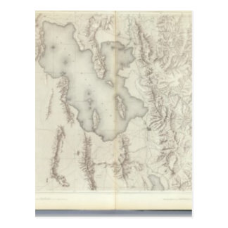 Composite Topographical maps IV Postcard