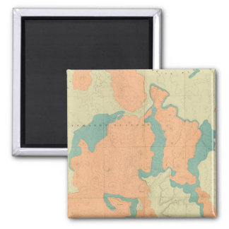 Composite Uinkaret Plateau North and South half 2 Inch Square Magnet