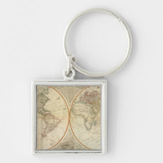 Composite World hand colored map Key Chains