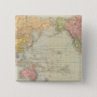 Composite World on Mercator's projection Pinback Button