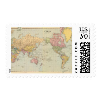 Composite World on Mercator's projection Postage