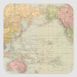 Composite World on Mercator's projection Square Sticker