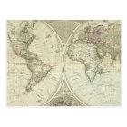 Composite World or terraqueous globe Postcard