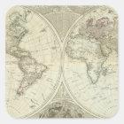 Composite World or terraqueous globe Square Sticker