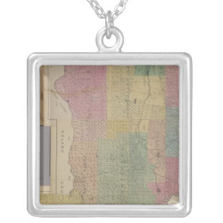 Composite Yolo County Square Pendant Necklace