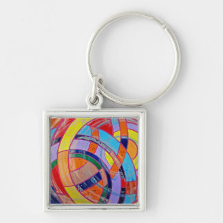 Composition #15 by Michael Moffa Keychain