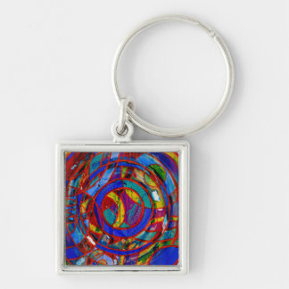 Composition #17 by Michael Moffa Keychain