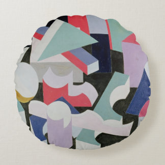 Composition, 1927 round pillow