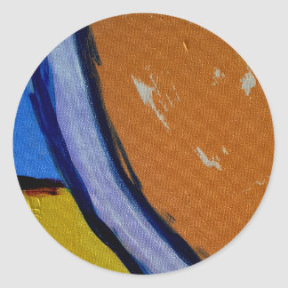 Composition #1A by Michael Moffa Classic Round Sticker