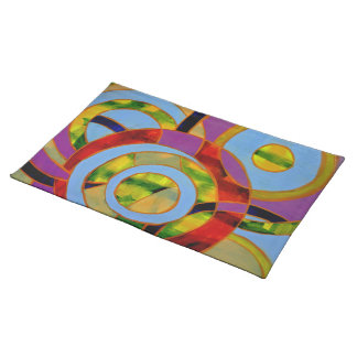 Composition #21 by Michael Moffa Cloth Placemat
