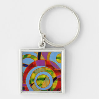 Composition #21 by Michael Moffa Keychain