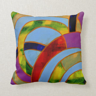 Composition #21A by Michael Moffa Throw Pillow