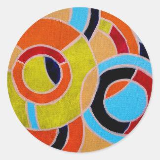 Composition #22 by Michael Moffa Classic Round Sticker