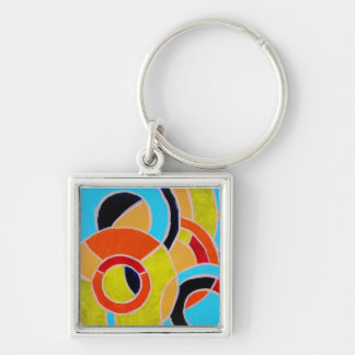 Composition #22 by Michael Moffa Keychain