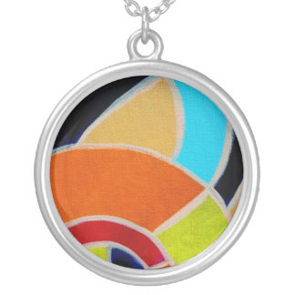 Composition #22A by Michael Moffa Round Pendant Necklace