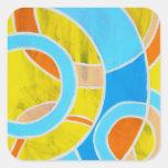 Composition #23 by Michael Moffa Square Stickers