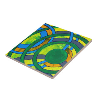 Composition #28 by Michael Moffa Ceramic Tile