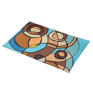 Composition #32 by Michael Moffa Cloth Placemat