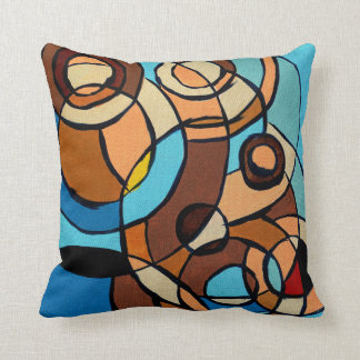 Composition #32 by Michael Moffa Throw Pillows