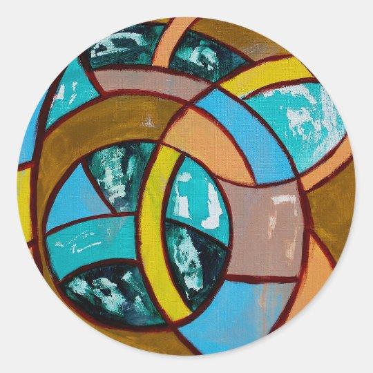 Composition #8 by Michael Moffa Classic Round Sticker