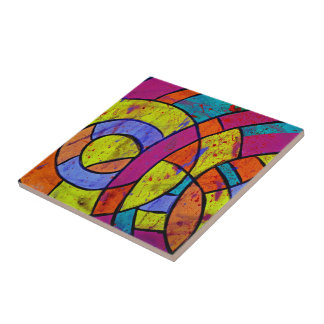Composition #9 by Michael Moffa Ceramic Tile