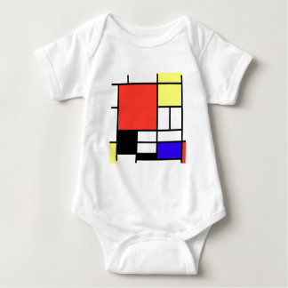 Composition and Mondriaan Baby Bodysuit