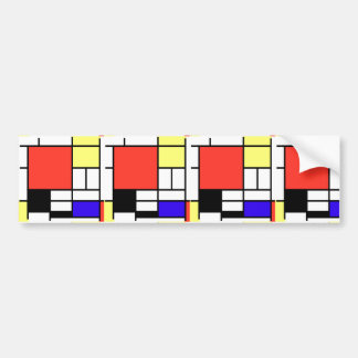 Composition and Mondriaan Bumper Sticker