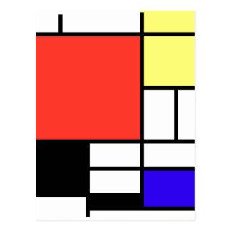Composition and Mondriaan Postcard