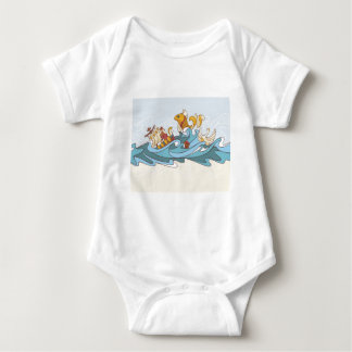 composition background baby bodysuit