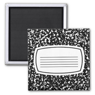 composition book 2 inch square magnet