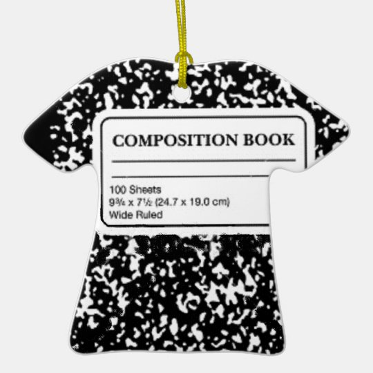 Composition Book Ceramic Ornament