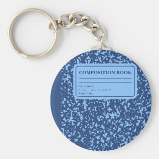 Composition Book Keychain