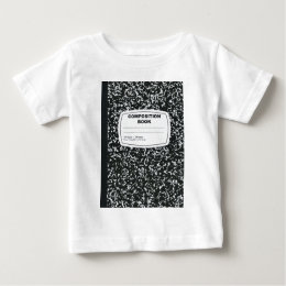Composition Book Student Teacher Baby T-Shirt