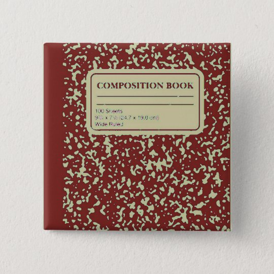 Composition Book/Student-Teacher Button