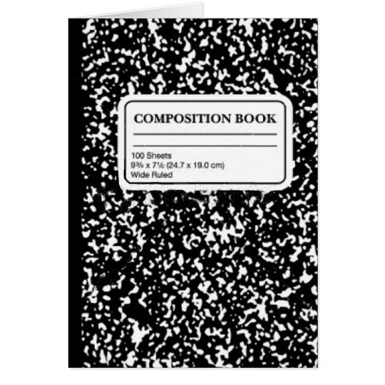Composition Book/Student-Teacher Card
