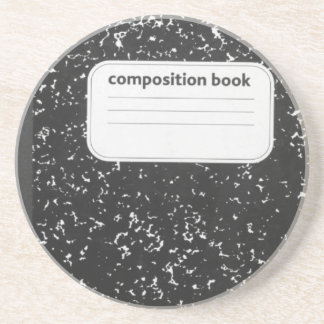 Composition Book Student Teacher Drink Coaster