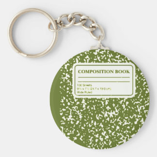 Composition Book/Student-Teacher Keychain