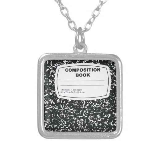 Composition Book Student Teacher Personalized Necklace