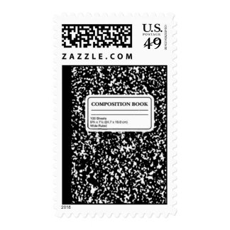 Composition Book/Student-Teacher Postage Stamps