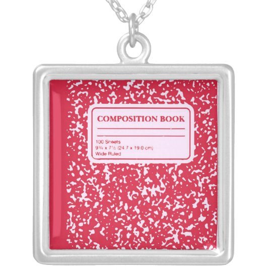 Composition Book/Student-Teacher Silver Plated Necklace