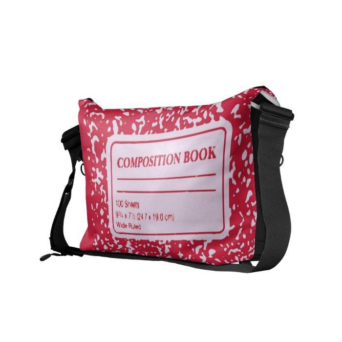 Composition Book Teacher /Student Courier Bag