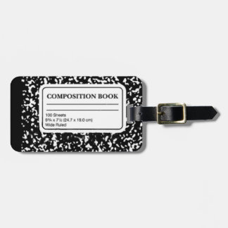 Composition Book Travel Bag Tags