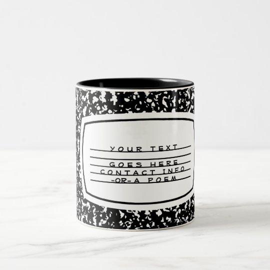 composition book Two-Tone coffee mug