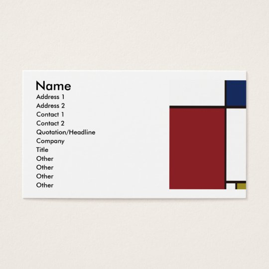 Composition Business Card