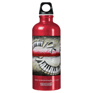"Composition Collision ""Cranberry"" Liberty Bottle SIGG Traveler 0.6L Water Bottle"