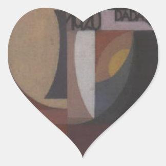 Composition Dada by Sophie Taeuber-Arp Heart Sticker